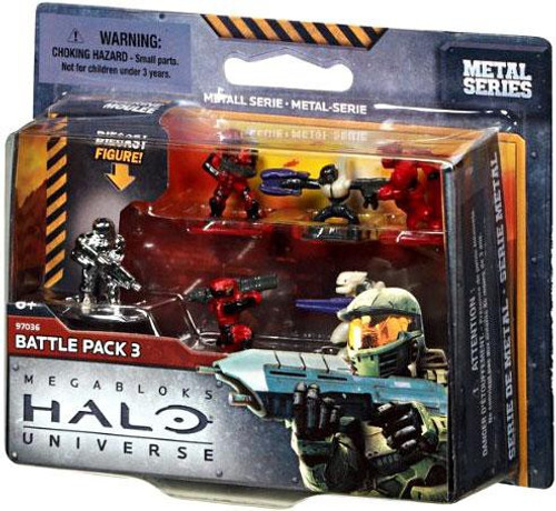 Mega Bloks Halo Metal Series Battle Pack 3 Set #97036
