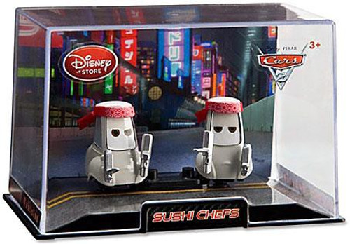 Disney Cars Cars 2 1:43 Collectors Case Sushi Chefs Exclusive Diecast Car