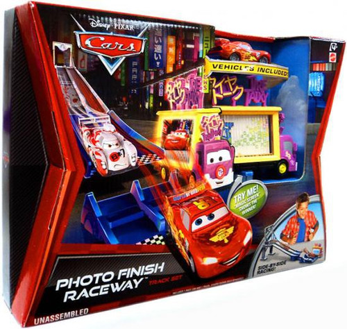 Disney Cars Cars 2 Playsets Photo Finish Raceway Diecast Car Track Set