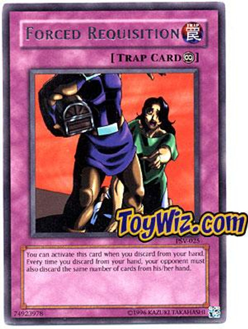 YuGiOh Pharaoh's Servant Rare Forced Requisition PSV-025
