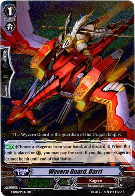 Cardfight Vanguard Descent of the King of Knights RR Rare Wyvern Guard, Berri BT01-015