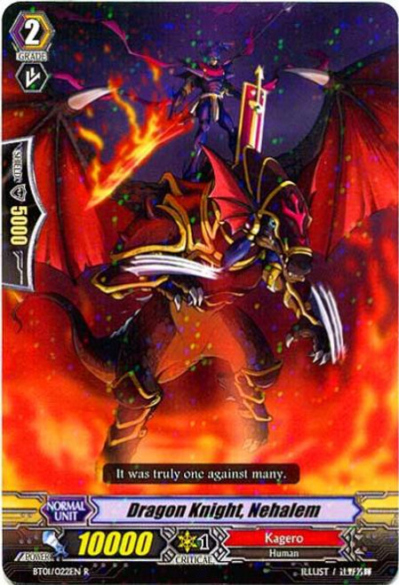 Cardfight Vanguard Descent of the King of Knights Rare Dragon Knight, Nehalem BT01-022
