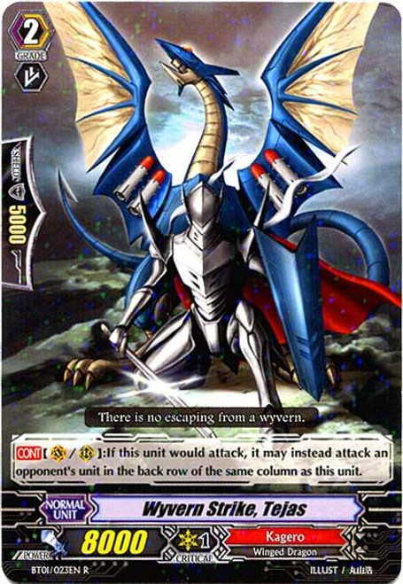 Cardfight Vanguard Descent of the King of Knights Rare Wyvern Strike, Tejas BT01-023