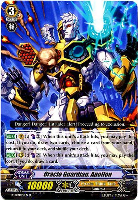 Cardfight Vanguard Descent of the King of Knights Rare Oracle Guardian, Apollon BT01-025