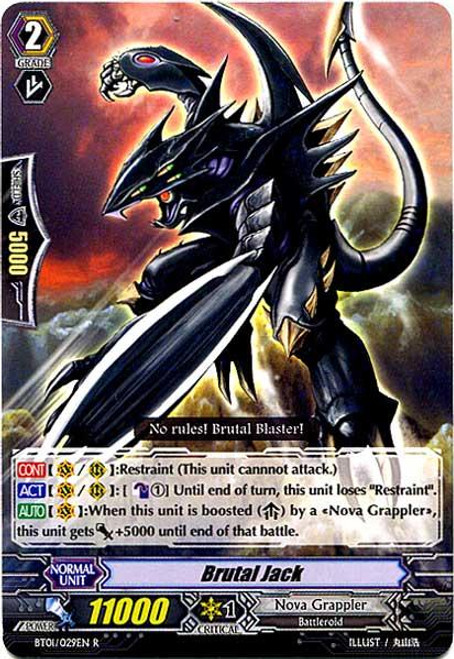 Cardfight Vanguard Descent of the King of Knights Rare Brutal Jack BT01-029