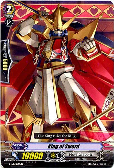 Cardfight Vanguard Descent of the King of Knights Rare King of Sword BT01-030