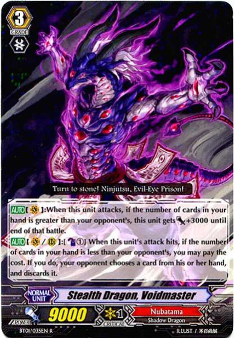 Cardfight Vanguard Descent of the King of Knights Rare Stealth Dragon, Voidmaster BT01-035
