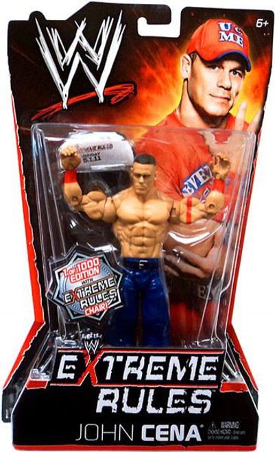 WWE Wrestling Extreme Rules John Cena Action Figure [With Chair]