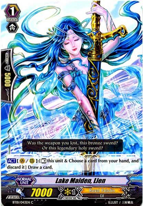 Cardfight Vanguard Descent of the King of Knights Common Lake Maiden, Lien BT01-043