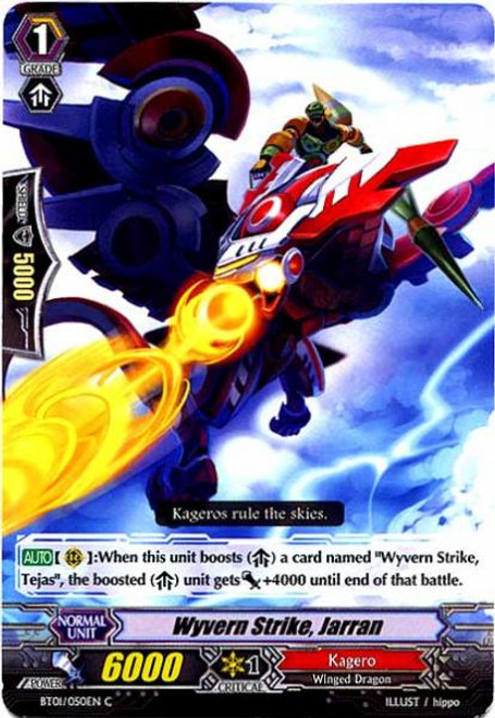 Cardfight Vanguard Descent of the King of Knights Common Wyvern Strike, Jarran BT01-050