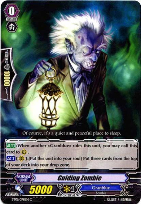 Cardfight Vanguard Descent of the King of Knights Common Guiding Zombie BT01-078