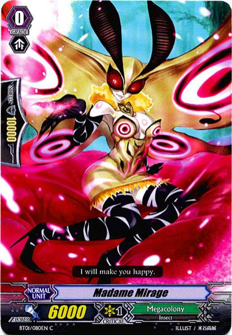 Cardfight Vanguard Descent of the King of Knights Common Madame Mirage BT01-080