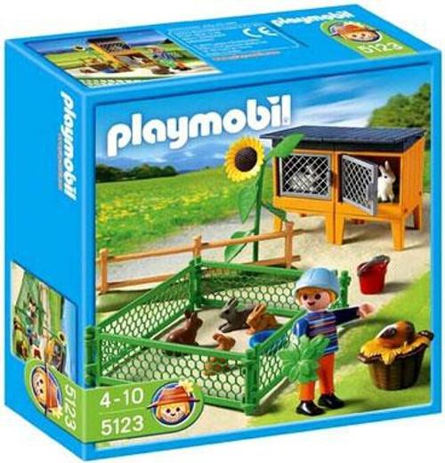 Playmobil Farm Bunny Hutch Set #5123
