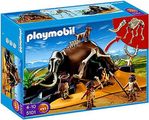 Playmobil Stone Age Mammoth Skeleton Tent with Cavemen Set #5101