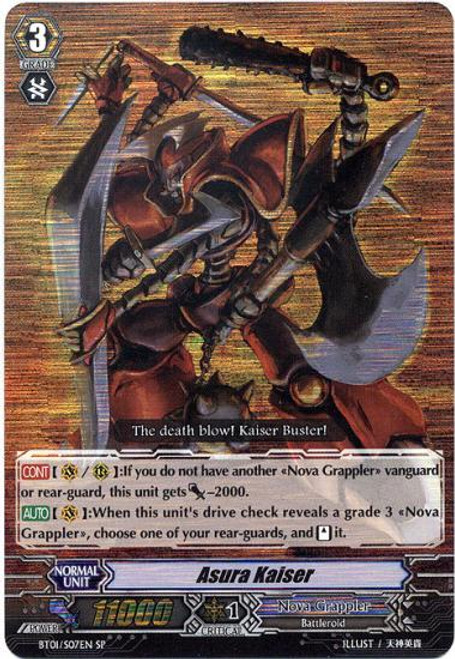 Cardfight Vanguard Descent of the King of Knights SP Asura Kaiser BT01-007