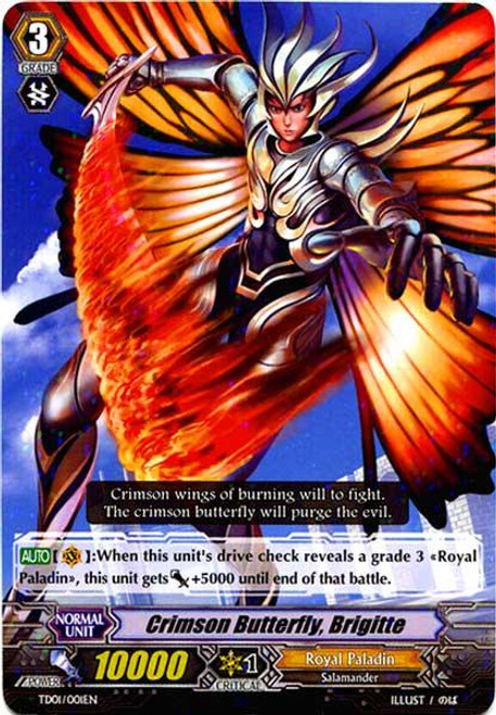 Cardfight Vanguard Blaster Blade Trial Deck Fixed Crimson Butterfly, Brigitte TD01/001