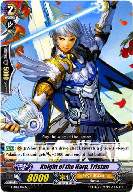 Cardfight Vanguard Blaster Blade Trial Deck Fixed Knight of the Harp, Tristan TD01/006