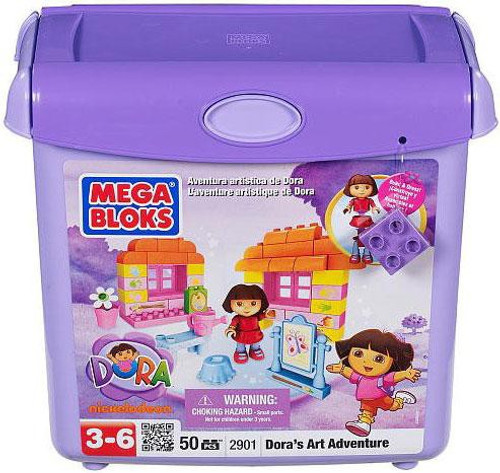 Mega Bloks Dora the Explorer Dora's Art Adventure Set #2901