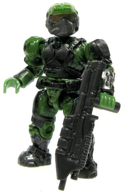 Mega Bloks Halo Loose Marine 2-Inch Minifigure [Green with Assault Rifle Loose]