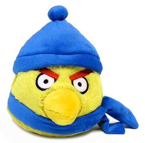 Angry Birds Winter Yellow 6-Inch Plush [Dark Blue Hat & Scarf]