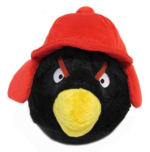 Angry Birds Winter Black 6-Inch Plush [Red Hat]