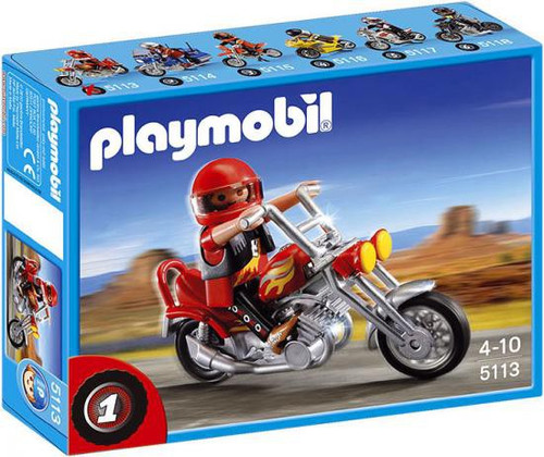 Playmobil Transport Chopper Motorcycle with Rider Set #5113