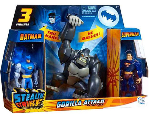 Batman The Brave and the Bold Deluxe Gorilla Attack Battle Pack Action Figure Set