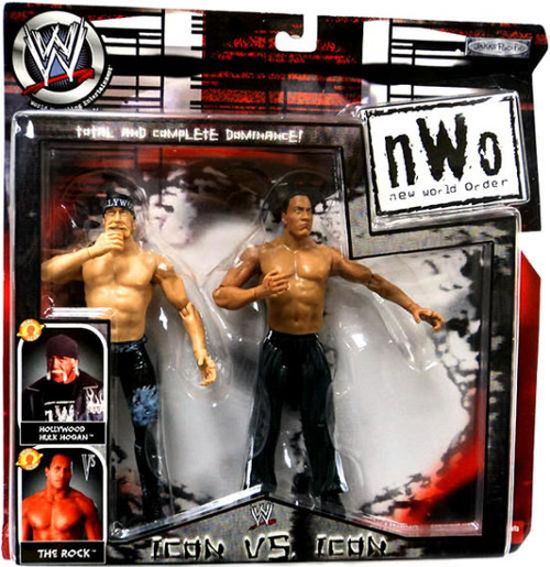 WWE Wrestling NWO Hulk Hogan vs. the Rock Action Figure 2-Pack