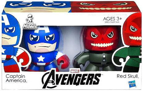 Marvel Avengers Mini Muggs Captain America & Red Skull Vinyl Figure 2-Pack