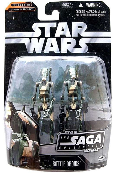 Star Wars Revenge of the Sith Saga Collection 2006 Battle Droids Action Figure 2-Pack #62 [Stealth Version]