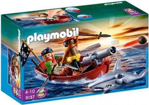 Playmobil Pirates Rowboat with Shark Set #5137