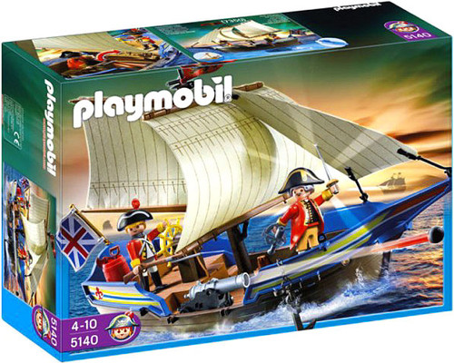 Playmobil Pirates Redcoat Battle Ship Set #5140
