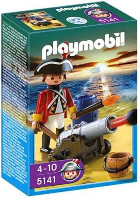 Playmobil Pirates Redcoat Guard with Cannon Set #5141
