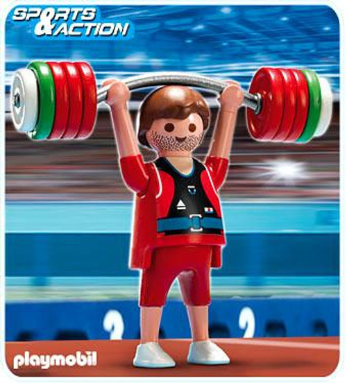 Playmobil High-Performance Athletes Weightlifter Set #5199