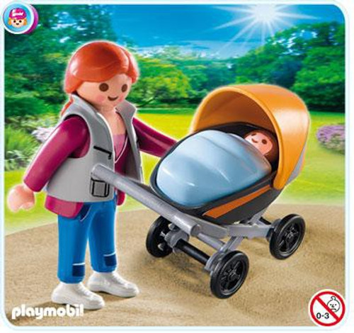 Playmobil Special Mom with Baby Carriage Set #4756