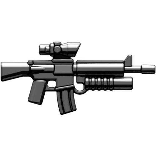 BrickArms Weapons M16-AGL ACOG Scope & Grenade Launcher 2.5-Inch [Black]