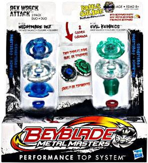 Beyblade Metal Masters Rex Wreck Attack 2-Pack