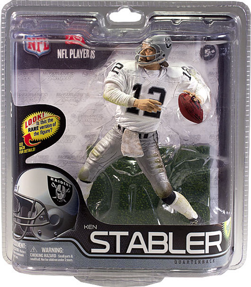 McFarlane Toys NFL Oakland Raiders Sports Picks Series 29 Ken Stabler Action Figure [White Jersey]