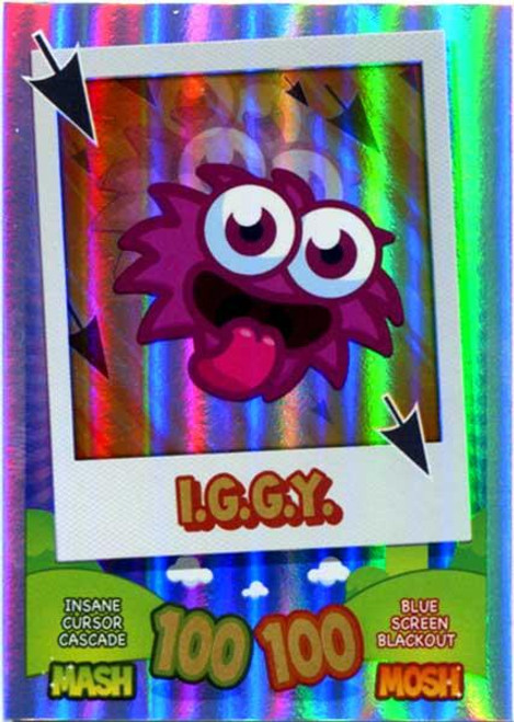 Moshi Monsters Mash Up! Rainbow Foil Card IGGY