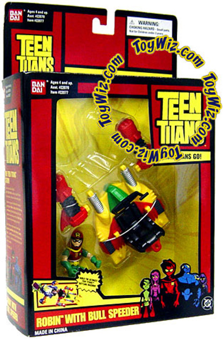 Teen Titans Action Figure Robin With Bull Speeder Action Figure Vehicle