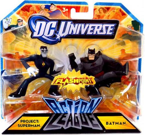 DC Universe Flashpoint Action League Project: Superman & Batman 3-Inch Mini Figures
