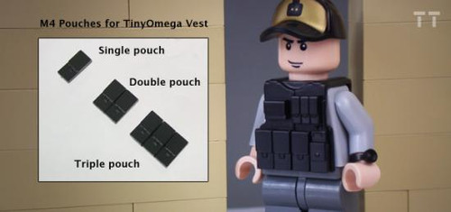 Tiny Tactical M4 Double Pouch [Black]