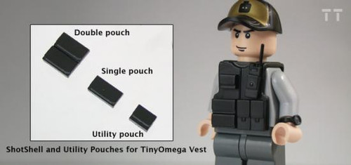 Tiny Tactical Shotgun Shell Single Pouch [Black]