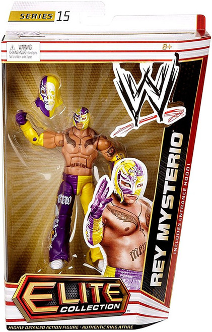 WWE Wrestling Elite Series 15 Rey Mysterio Action Figure [Entrance Hood]