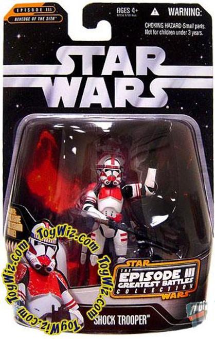 Star Wars Revenge of the Sith Episode III Greatest Battles 2006 Shock Trooper Action Figure #11 of 14