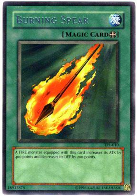 YuGiOh Tournament Pack 1 Rare Burning Spear TP1-010