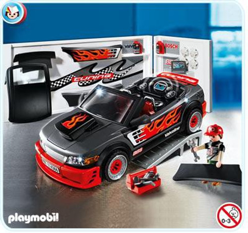 Playmobil Police Car Repair Shop and Sports Car with Sound Set #4366