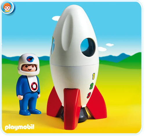 Playmobil 1.2.3 Moon Rocket Set #6776