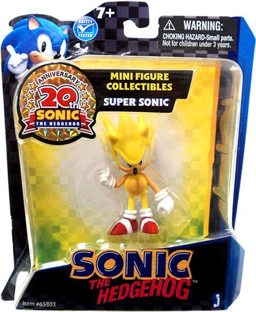 Sonic The Hedgehog 20th Anniversary Super Sonic Mini Figure [Yellow]