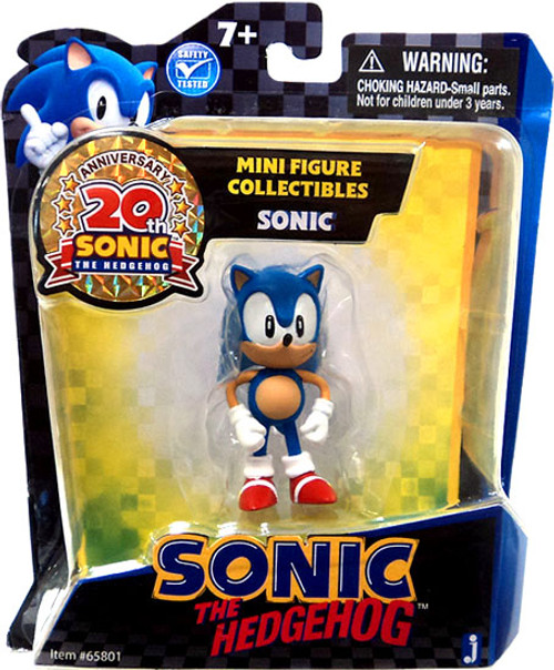Sonic The Hedgehog 20th Anniversary Sonic Mini Figure